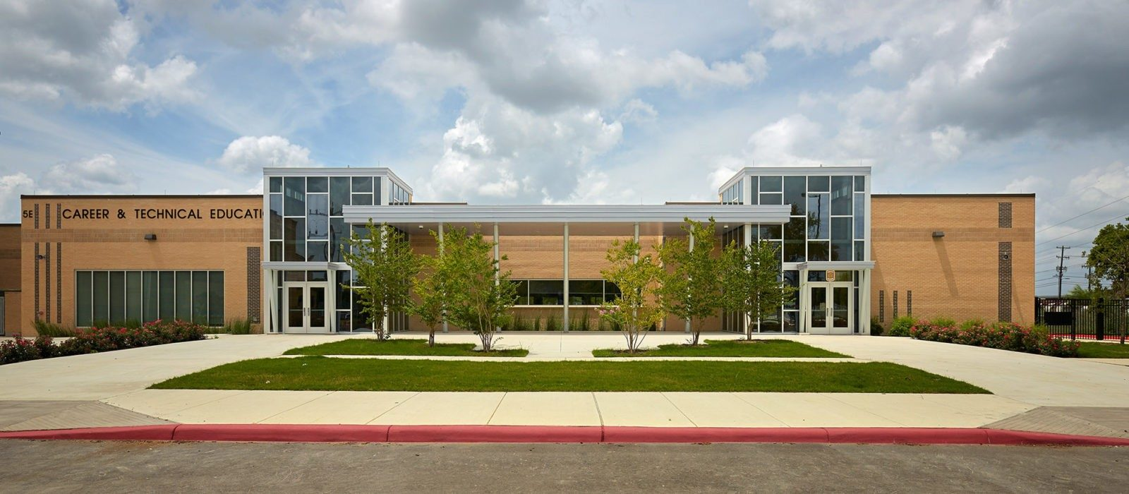 Front of Sam Houston High School